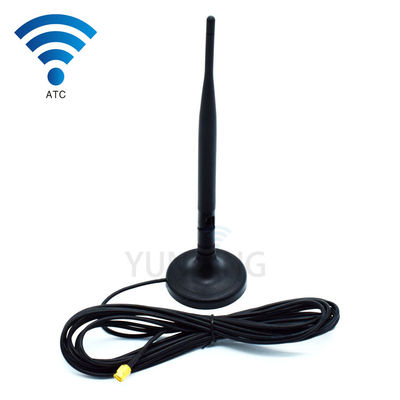 Dual Band Magnetic Base Antena GSM / 3G SMA Connector Antena Penggunaan Indoor
